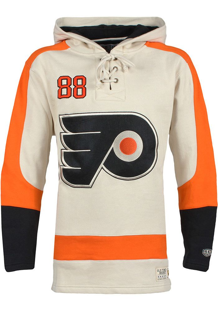 Eric Lindros Philadelphia Flyers Mens Gray Fashion Hood