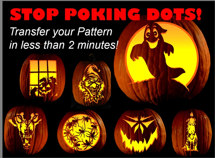Transfer a pumpkin pattern to in minutes and