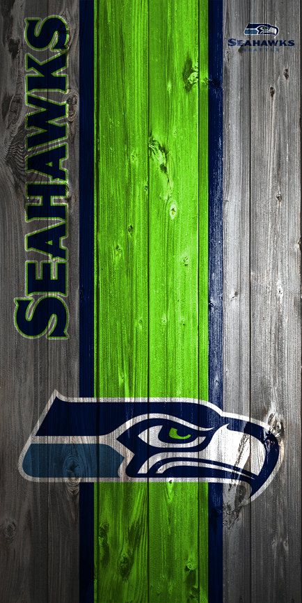 CUSTOM VINYL Cornhole Boards DECALS Seattle Seahawks Wood Bag Toss Game Stickers