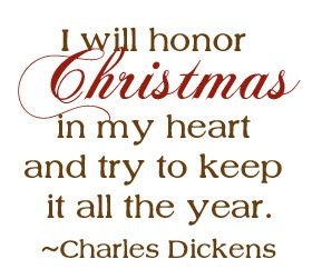 "Scrooge's declaration from Charles Dickens's ""A Christmas Carol."""
