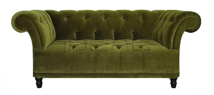Przepiękna sofa chesterfield, radość domowników, chluba gospodarza, zazdrość gości. Pikowane siedzisko i pikowane oparcie eksluzywny produkt dla koneserów.  Sofa Chesterfield, Dorset - IdealMeble  sofa chesterfield, zielona, oliwkowa sofa, styl angielski, green, olive