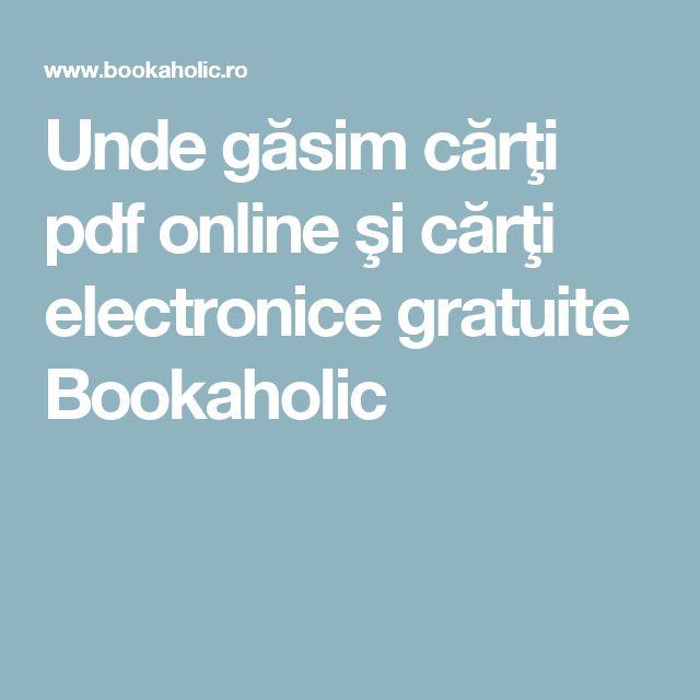 Unde găsim cărţi pdf online şi cărţi electronice gratuite Bookaholic