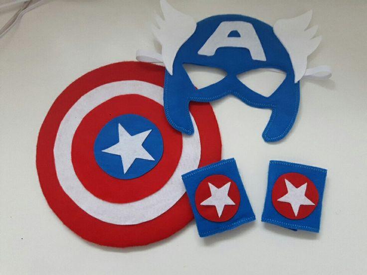 Acessórios Capitão América em feltro