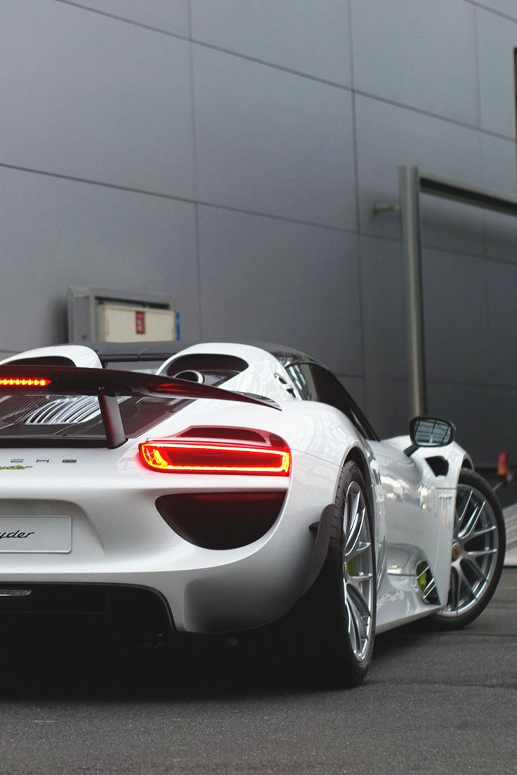 Porsche 918 Spyder, one of the only good looking Porsches ever made.