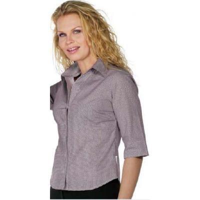 Camicia grigia donna, 100% cotone, disponibile sia nella fantasia a quadri bordeaux che a quadri neri.