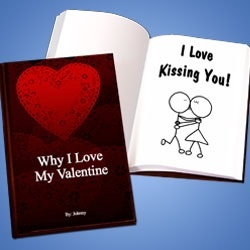 Personalized Valentine's Day LoveBook - Hard Cover