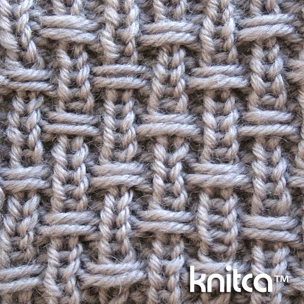 Right side of knitting stitch pattern – Slip Stitch 14 : www.knitca.com Interesting on both sides