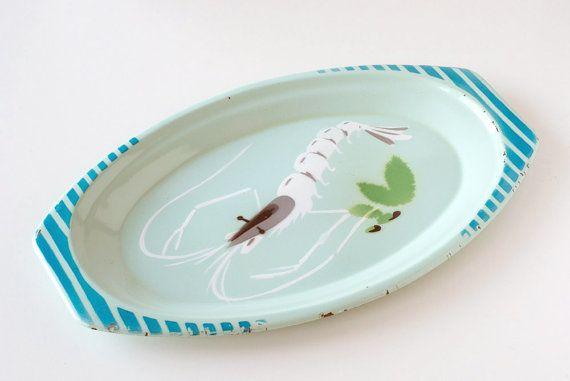 Shrimp plate enamel