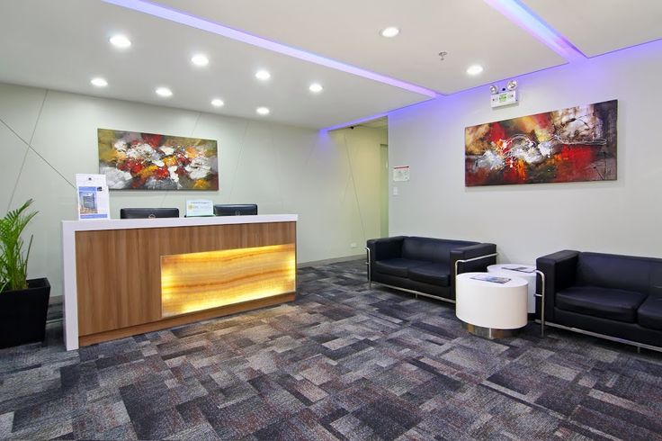Reception Idea. We created with our team of designers cozy serviced offices front desk in the Philippines an we call it our Welcome area.
