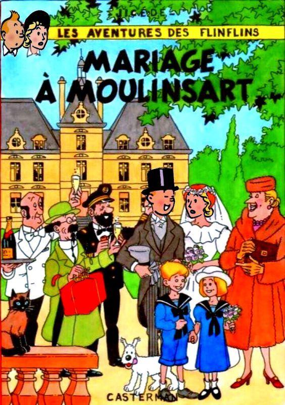 Les Aventures de Tintin - Album Imaginaire - Mariage à Moulinsart