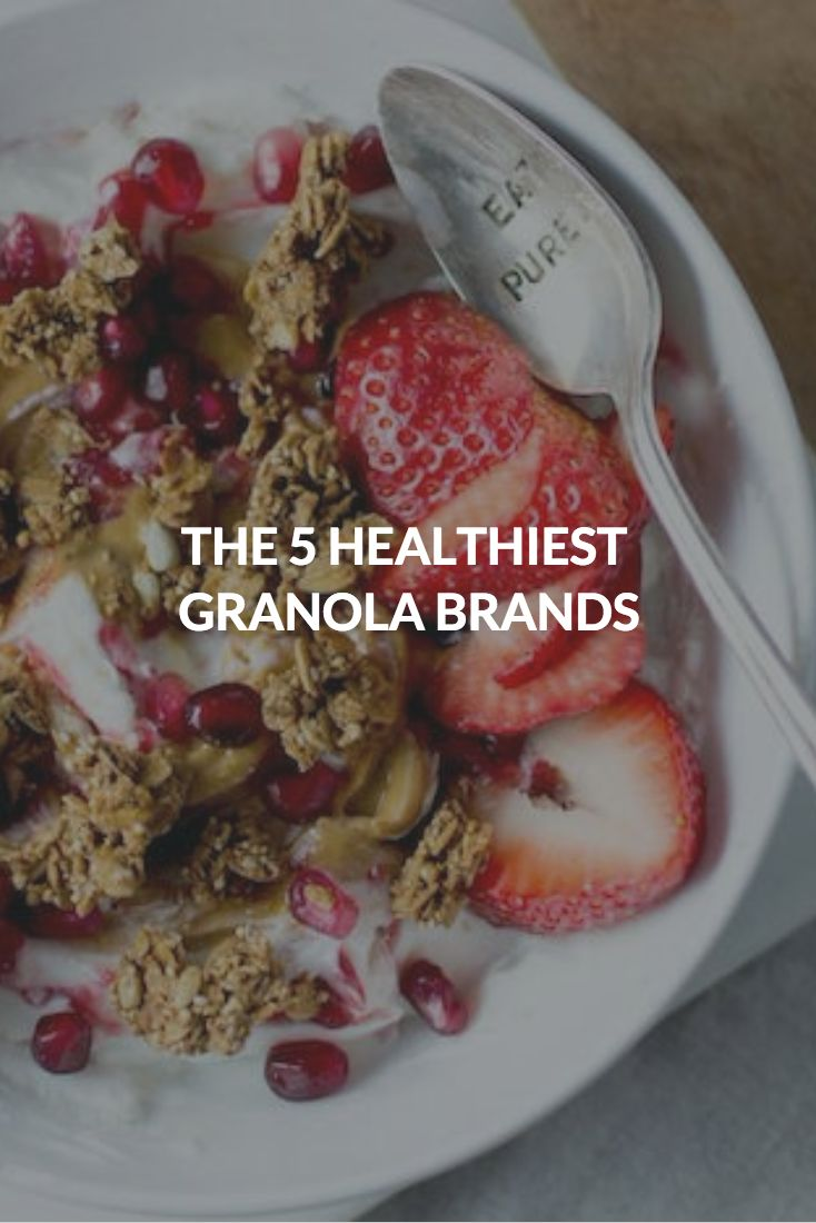 THE 5 HEALTHIEST GRANOLA BRANDS  Here, we identify five stand-out brands you can rely on in a pinch (listed in no particular order). All are made with entirely or mostly organic ingredients and oils like coconut and olive, and are low in sugar and free of fillers. May we suggest enjoying with Greek yogurt or a small-batch nut milk? #healthrecipes #granola