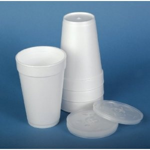 Styrofoam Cup Lids. Great for leftovers! Write on the cup what it is and the date. If you don't use it, just throw it away. No need to wash all those plastic containers!!!!!