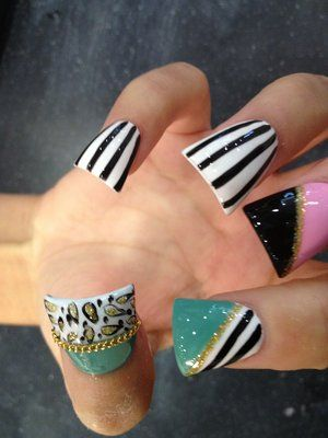 acrylic flared nails - Google Search