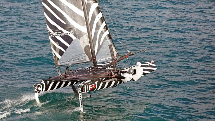 Fast foiling ride for Billy Besson and Matthieu Vandame