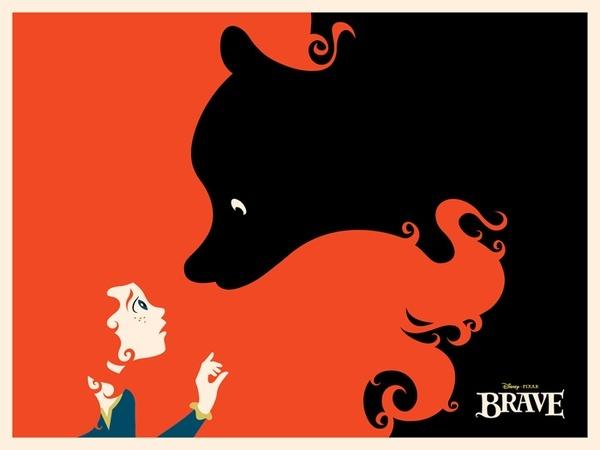 Disney/Pixar Brave paintings-illustration