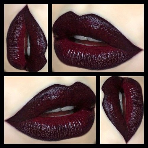 "❥ Kat Von D ""Homegirl"" Lipstick with MAC ""Currant"" Lipliner & NYX ""Black Lips"" Lipliner ❥ by depechegurl http://bit.ly/1dIv3Hs"