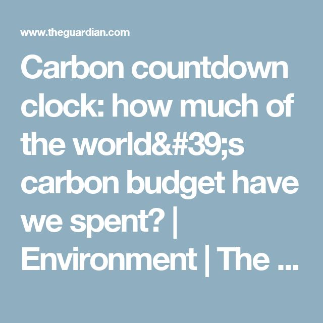 Carbon countdown clock: how much of the world's carbon budget have we spent? | Environment | The Guardian