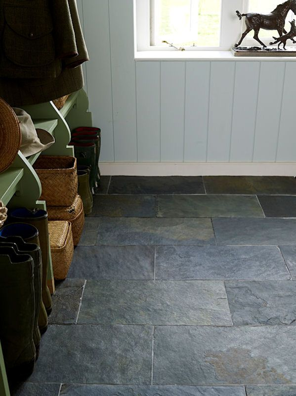Grey Riven Slate offers an authentic & textured slate floor which is both beautiful and hardwearing.