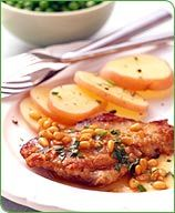 Weight Watchers Veal scallopini with lemon garlic and pine nuts