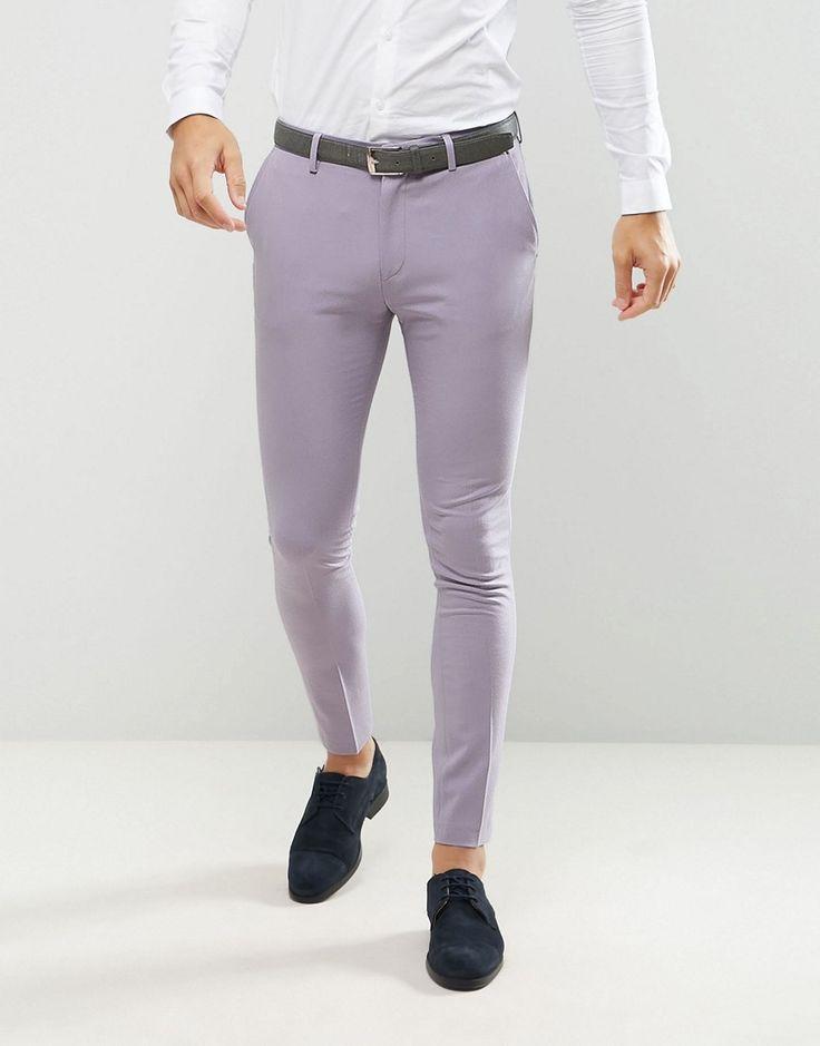 ASOS Super Skinny Suit Pants In Dusky Lilac - Purple