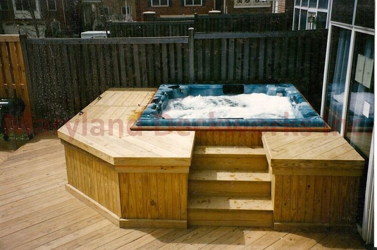 Hot tub deck designs custom hot tub decks hot tub sales for Spa deck design