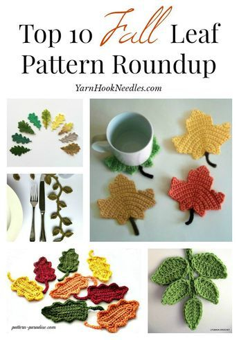 Needing a good pattern to create your own custom garland for your mantle this fall? Checkout these top 10 crochet leaf patterns!