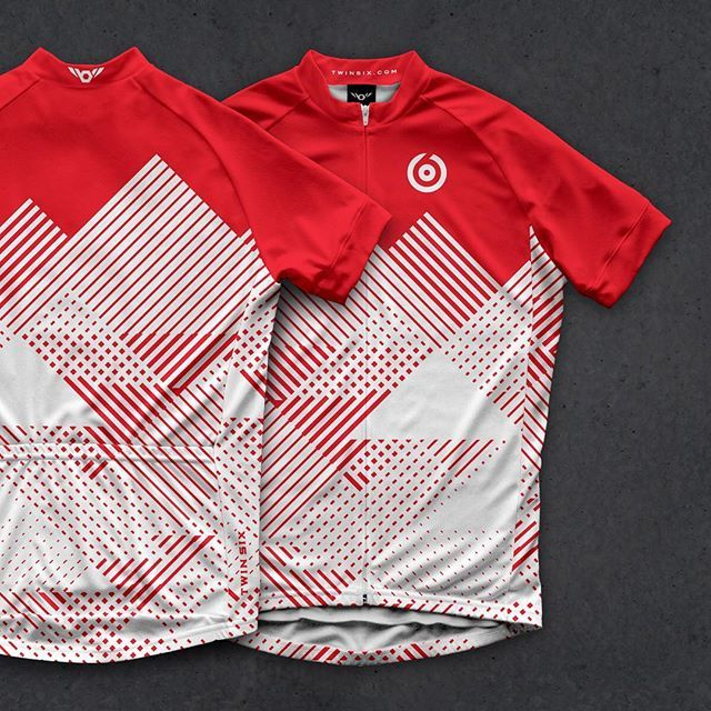Red and white #cycling #kit #road #apparel #twinsix