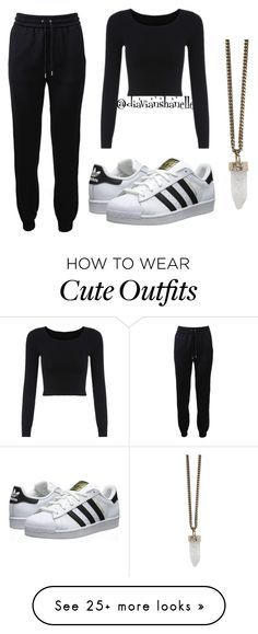 """""""Cute Casual Outfit"""" by diavianshanelle on Polyvore featuring Barbara Bui, adidas Originals, Givenchy, tumblr, adidas and blackoutfit"""