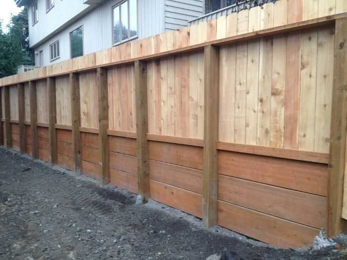 Best images about retaining wall w fence on pinterest