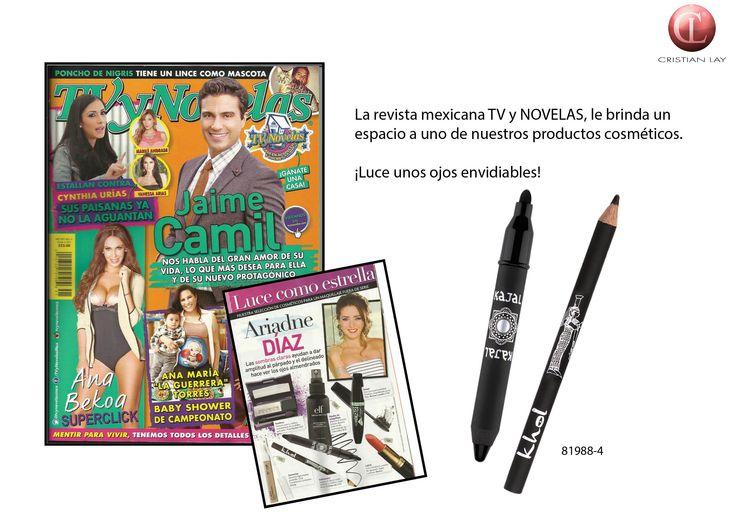 Nuestros lápices Kajal Khol en la #revista #TvyNovelas de #Mexico