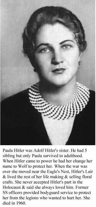 1930 Paula Hitler (sister)