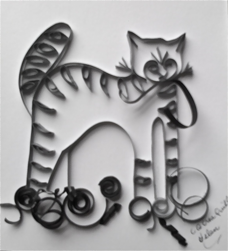 106 mejores ideas sobre quilling cats en pinterest for How to use quilling strips