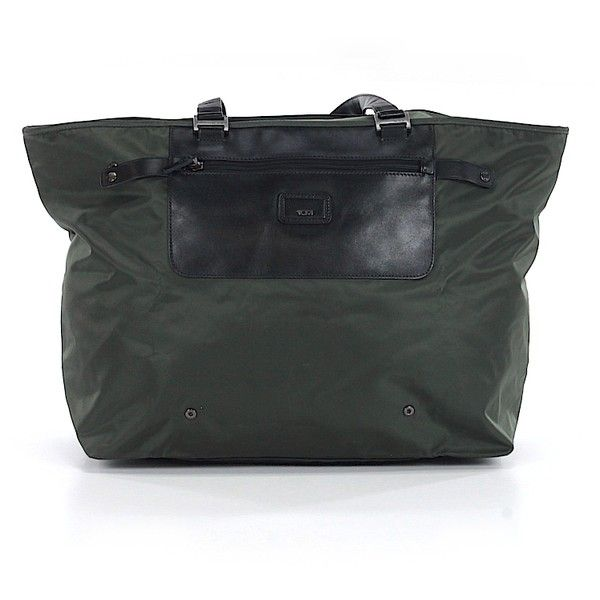 Pre-owned Tumi Tote: Dark Green Women's Bags ($43) ❤ liked on Polyvore featuring bags, handbags, tote bags, dark green, tote hand bags, tote bag purse, tote purse, tumi purse and tumi tote