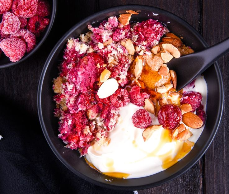Almost Instant Raspberry Crumble