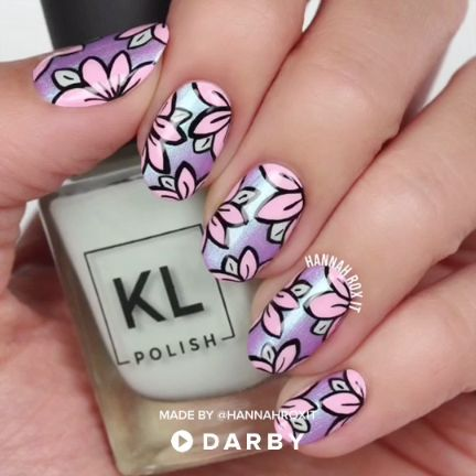 Cute Spring Floral Nail Art #darbysmart #beautytips #beautyhacks #beautytricks #…