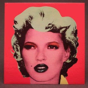 KATE MOSS Famous BANKSY picture used on a Vinyl cover... for Dirty Funker