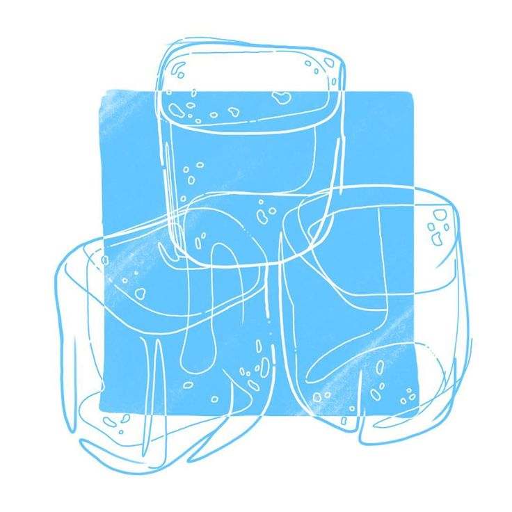 #illustration #ice cubes #art #lightblue #inversion