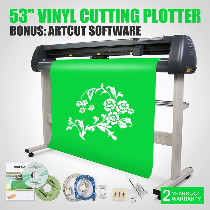 "New 53"" Vinyl Cutter Cutting Plotter Machine Artcut Software. This New 53"" Vinyl Cutting Plotter Machine comes with easy-to-use Design and Artcut Software, which allows you to cut professional customized designs and signs with your cutting machines, giving you the ability to use your fonts, import custom artwork, and draw your own shapes! 