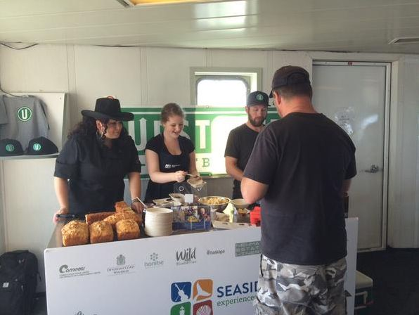 Chef Ilona and Upstreet Brewing serve up some delectable dishes on board NFL Ferries