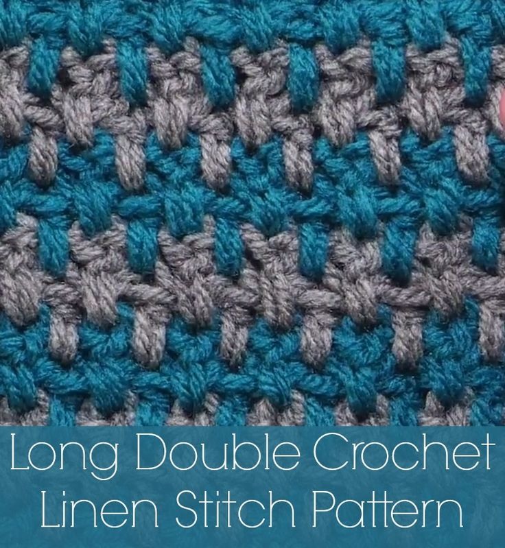Long Double Crochet Linen Stitch YouTube Tutorial and FREE PATTERN at ...