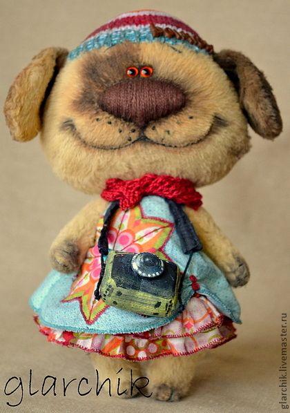 Собаня Франя - авторская игрушка,друзья тедди,собачка,песик,вискоза,синтепух