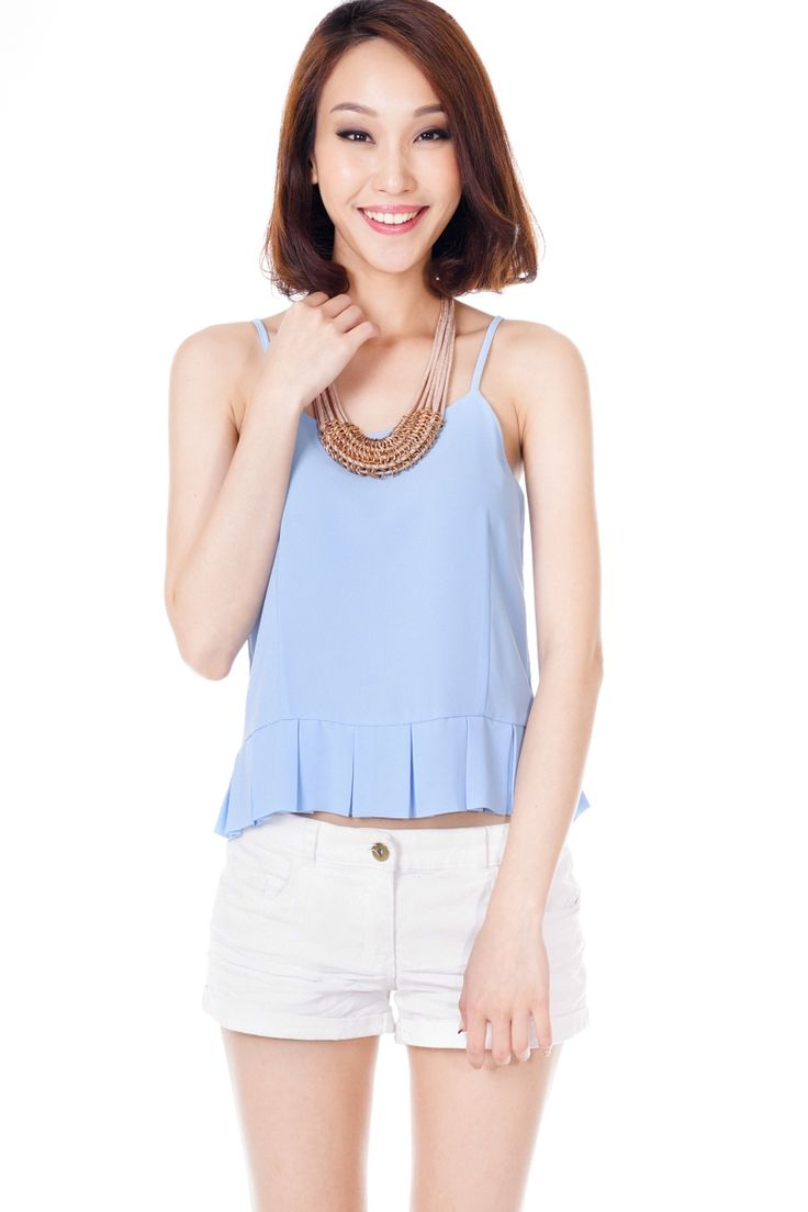 *Restock* TCL Pleated Peekaboo Top in Powder Blue | The Closet Lover  http://www.theclosetlover.com/tops/restock-tcl-pleated-peekaboo-top-powder-blue