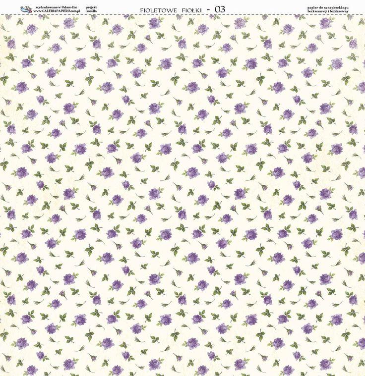 Papier 30x30 - Fioletowe Fiołki 03 - Galeria Papieru Na-Strychu