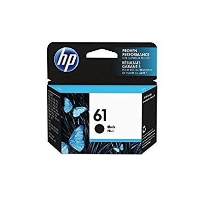Color: Black HP 61 ink cartridge yield (approx.): 190 pages HP ink cartridge for HP printers deliver high quality photos and documents. Get up to 2X as many pages vs. refills. Based on a HP commissioned study for performance of cartridges refilled / remanufactured compared to Original HP ink cartridges. Eco-friendly: This cartridge is made from up to 70% recycled content. Geniune original HP ink cartridge: proven performance for superb prints.