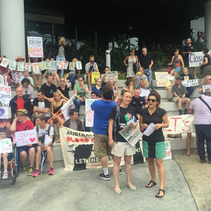 Yes, it says burnt baby...Brisbane doctors 'risking jail' for refusing to discharge baby badly burnt on Nauru: Sarah Hanson-Young