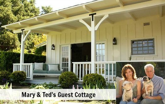 Ted Danson Mary Steenburgen Guest Cottage - 1,000 sq ft house, good idea for use of space