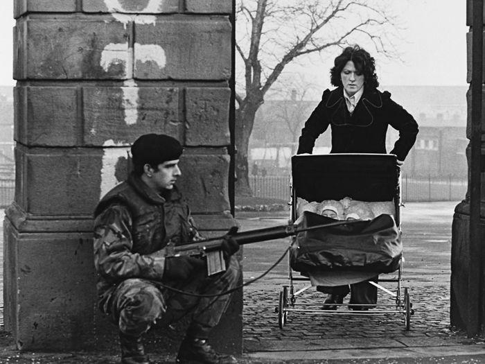 Troubles, Belfast 1974 by Nancy Moran