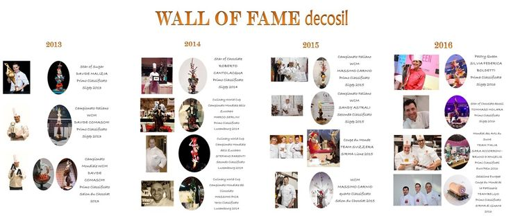 Wall of Fame di decosil - All world champions who won with our custom silicone molds #CONCETTO #decosil #showpieces