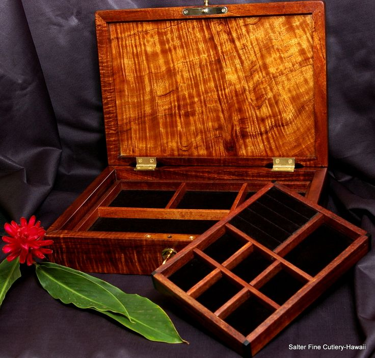 38 best Custom Handcrafted Koa Wood Jewelry Boxes images on