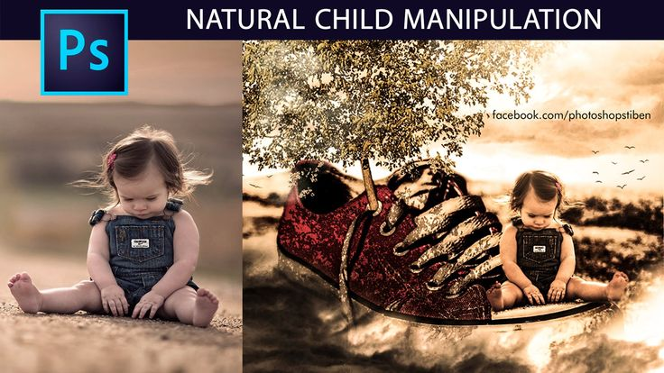 Tutorial Photoshop: Fotomontaje Surrealista Natural Child by @photoshops...